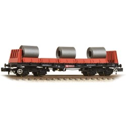 BAA Steel Carrier Wagon with Coils Railfreight Red & Black