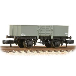 13 Ton H/Sided Steel Wagon (Smooth Sides) Wooden Door BR Grey