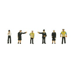 N Scale Police and Security Staff