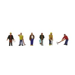 N Scale Construction Workers