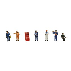 N Scale Traction Maintenance Depot Workers