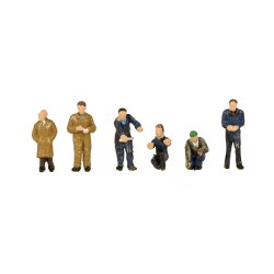 N Scale Factory Workers and Foreman