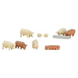N Scale Pigs