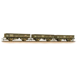 Triple Pack 34 Tonne PNA Wagons Railtrack 5 Rib Weathered