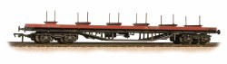 80 Tonne glw BDA Bogie Bolster Wagon Railfreight (Red) - Weathered