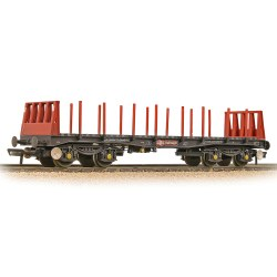 BR BAA Steel Carrier Wagon BR Railfreight Red - Weathered - Includes Wagon Load