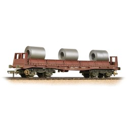 BAA Steel Carrier Wagon BR Brown with Coils - Weathered