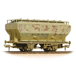 Covhop Wagon 'Soda Ash' Light Grey - Heavily Weathered