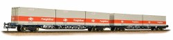 FGA BR Freightliner Outer Container Flats(x2) ISO Containers
