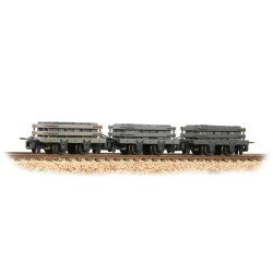 4 Wheel Slate Wagon Grey (Pk 3) Weathered