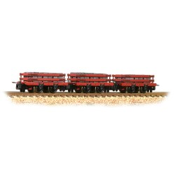 Slate Wagons 3-Pack Red with Slate Load - Includes Wagon Load