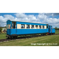 Bogie Coach Lincolnshire Coast Light Railway Blue & Cream