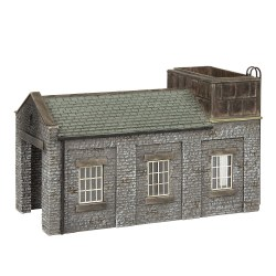 Stone Engine Shed with Tank