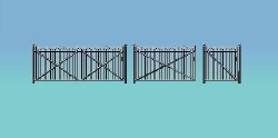 Spear fencing gates and ramps