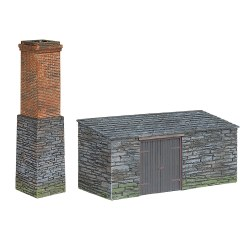 Narrow Gauge Slate Built Boiler House and Chimney