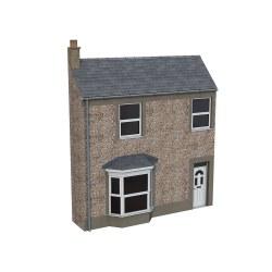 Low Relief Pebble Dash Terrace House