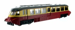 Streamlined Railcar W8 BR Lined Carmine and Cream