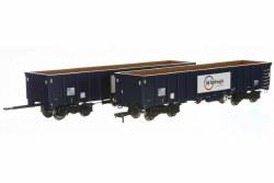 MJA  GBRF  Bogie Box Van 502009 & 010