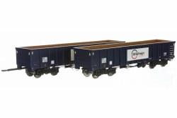 MJA  GBRF  Bogie Box Van 502051 & 052