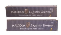 45 Foot Container Hi Cube 'Malcolm Logistics' 450033 3 & 0029 3 Weathered