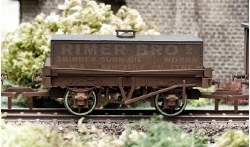 Rimer Bros Rectangular Tank Wagon Weathered
