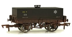 12T Rectangular Tank Wagon 28 BR Black Weathered