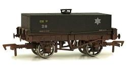 12T Rectangular Tank Wagon 28 BR Black Weathered