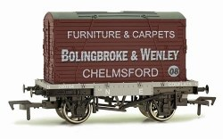 Conflat A Wagon NE Grey with Bolingbroke & Wenley, Chelmsford Container
