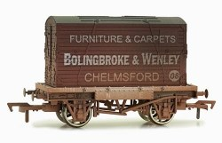 Conflat A Wagon NR Grey with Bolingbroke & Wenley, Chelmsford Container Weathered