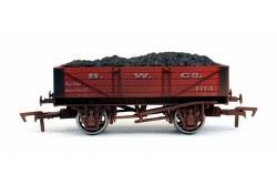 4 Plank Wagon B W Co 1114 Weathered