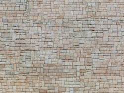 Lime Stone Wall 3D Cardboard Sheet 25 x 12.5cm