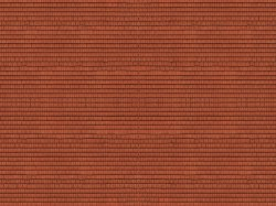 Roof Tiles Red 3D Cardboard Sheet 25 x 12.5cm