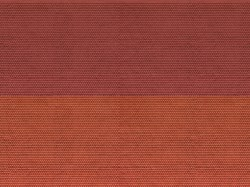 Plain Tiles Red 3D Cardboard Sheet 25 x 12.5cm