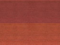 Plain Tiles Red 3D Cardboard Sheet 25 x 12.5cm