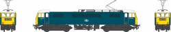 Class 86/0 BR Rail Blue E3146 with double arrow logo, full yellow ends, white cab roof and black bufferbeams