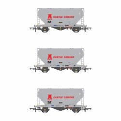 PCA VTG Castle Cement (Early) Pack V (3 Wagon Pack)