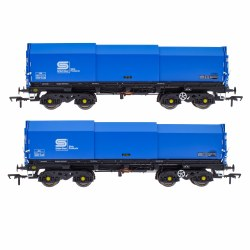 JSA Bogie Covered Steel Wagon Twin Pack - British Steel 2