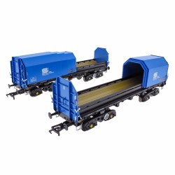 JSA Bogie Covered Steel Wagon Twin Pack - British Steel 3