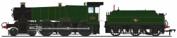 GWR 7800 'Manor' Class 7800 'Torquay Manor' BR Lined Green (Late Crest)