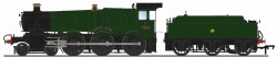 GWR 7800 'Manor' Class 7808 'Cookham Manor' GWR Green (Shirtbutton)