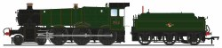 GWR 7800 'Manor' Class 7812 'Erlestoke Manor' BR Lined Green (Late Crest)