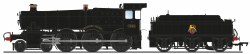 GWR 7800 'Manor' Class 7814 'Fringford Manor' BR Black (Early Emblem)