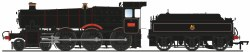 GWR 7800 'Manor' Class 7820 'Dinmore Manor' BR Lined Black (Early Emblem)