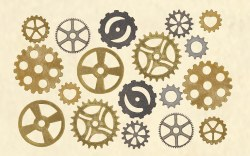 Steampunk Clock Cogs Pack