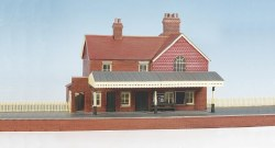 Country Station brick built with platform