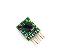 Ruby Series 2 Function Small DCC Decoder 6 Pin