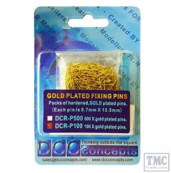 Pack of 100 Gold Plated Pins