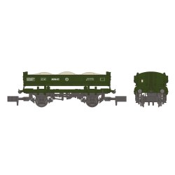 14T 'Mermaid' Side Tipping Ballast Wagon BR Departmental Olive Green
