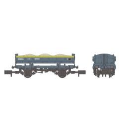 14T 'Mermaid' Side Tipping Ballast Wagon BR Engineers Grey & Yellow
