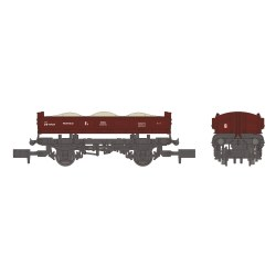 14T 'Mermaid' Side Tipping Ballast Wagon BR Departmental Gulf Red